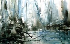 Watercolour: Winter water