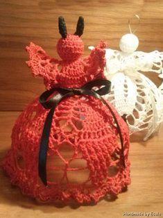 Handmade by Ecola & Dana Art - Aniołki 2014 Christmas Bulbs, Holiday Decor, Handmade, Art, Crochet Angels, Holiday Ornaments, Xmas, Noel, Art Background