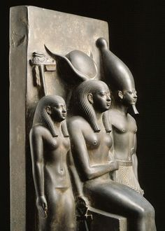 "centuriespast: "" King Menkaura, the goddess Hathor, and the deified Hare…"