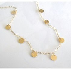 "To see this fab little gold disc coin drop necklace that was purchased from MY shop being worn, go to this youtube Luxy video, (Mimi Ikonn) link below. You will love it! Mimi wears the 16"" length. Cho"