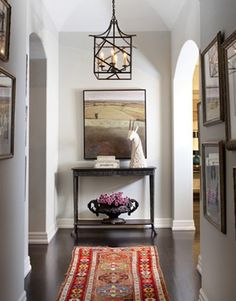 Entry color and layout of furniture/decor