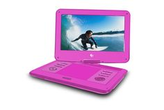 Portable DVD Player with Travel Bag & Headphones. The Ematic Portable DVD Player makes it easy to enjoy your favorite movies, videos, . Tv Videos, Travel Bag, Cool Things To Buy, Headphones, Audio, Pink, Bags, Dvd Players