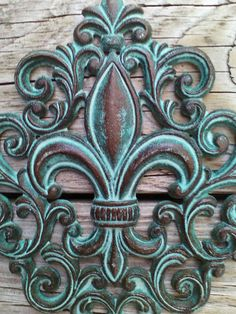 Cast Iron Fleur De Lis Wall Plaque Cast Iron Wall Decor