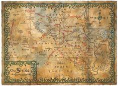 Poster affiche The Hobbit Carte La Comté grand format