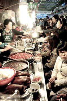 Dongdaemun Market Seoul, South Korea  Traditional market and shopping center.
