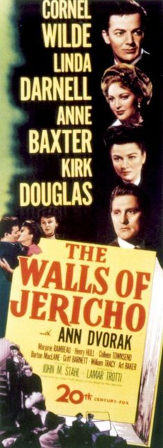 The Walls of Jericho, 1948 movie.  This is the movie Canon Pennyfather saw in London.