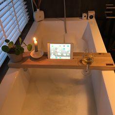 Bathroom Styling, Bathroom Interior Design, Grey Bathrooms, Small Bathroom, Bathroom Accessories, Home Accessories, Bathtub Tray, 1st Apartment, Cute Home Decor