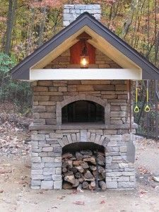 Wood bread oven