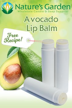 Free Avocado Lip Balm Recipe by Natures Garden