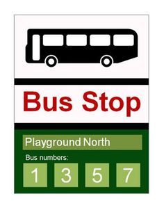 Bus Stop Sign.Bus stop sign ideal to use in role-play scenarios in schools and early years settings. The text is editable Communication And Language Activities, Numbers For Toddlers, Role Play Scenarios, Bus Stop Sign, Bus Number, People Who Help Us, Role Play Areas, Wheels On The Bus, Class Activities