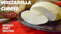 Homemade Mozzarella Cheese recipe without rennet solution. Use our simple and easy 2 ingredient recipe to make mozzarella cheese at home. Homemade Mozzerella, Homemade Cheese, Recipes With Mozzarella Cheese, Cream Cheese Recipes, How To Make Cheese, Food To Make, Making Cheese, Diet Recipes, Cooking Recipes