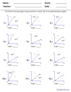 math worksheets for every grade FREE...i have it on angles for my ...