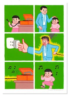 Joan Cornellà Vázquez (born 11 January 1981, Barcelona) is a cartoonist and illustrator famous for his unsettling, surreal humor and black humorous comic strips as well as artwork.  Cornellà's work has often been described as disturbing or flat-out offensive. Through simplistic visual language, he is able to use satire to comment on the sinister and often bleak side of human nature through a myriad of unconventional scenarios. Everything from our unnatural connection to social media and m...