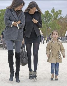 French women..ooohlala.  Even Emmanuelle Alt's daughter is chic.