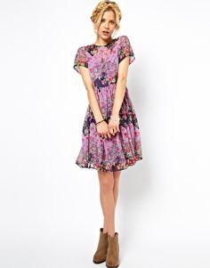 Enlarge ASOS Smock Dress In Patchwork Print $63.78
