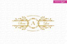 Vintage Wedding Logo by Linvit on Etsy