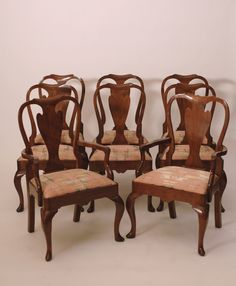 Antique Chippendale Classic Decor Dining Chairs - Set of 8 - Harrington Galleries