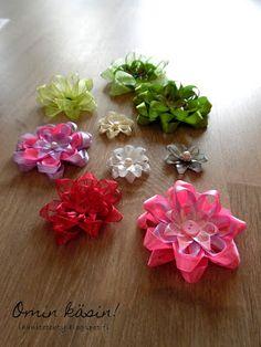 Omin käsin!: Syötävän suloisia ruusukkeita nauhoista