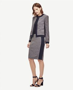 Thumbnail Image of Color Swatch 1717 Image of Tweed Pencil Skirt
