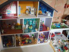 Expo photos des réalisations de maisons de poupées - Le nuancier de Marie Maison poupée playmobil bricolage enfant kids diy home made