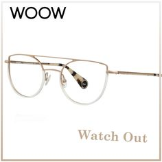 ⚠ WATCH OUT ⚠ Always elegant: White and gold combination for the Watch Out 3 col.904  If you like comment with: 👍🏻⠀⠀ __________⠀ #WOOWeyewear #WOOWyourLife __________ #woow #frames #designer #paris #handmade #instaglasses #metalframe #instaglasses #fashion #accessories #glasses #design #eyewear #lunettesdevue #montures #lunettes #glassesporn #Watchout