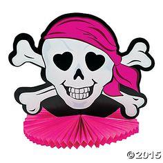 Pink Pirate Tissue Centerpiece