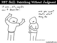 MyDailyDBT.com: DBT Skill: Describing Without Judgment