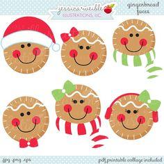 Gingerbread Faces - JW Illustrations
