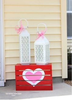Lovely Valentines Outdoor Decoration Ideas For You - St Valentin Fleurs Valentine Wreath, Valentine Day Crafts, Be My Valentine, Holiday Crafts, Holiday Fun, Holiday Decor, Valentine Ideas, Valentine Theme, Printable Valentine