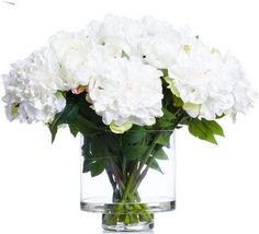 Our permanent and waterlike Cream Peonies in Footed Vase is elegantly appointed in a glass vase and will bring an element of nature into your space.Cream Peonies In Footed Vase Faux Flower Arrangements, Elements Of Nature, Faux Flowers, Peonies, Glass Vase, Cream, Home Decor, Fake Flowers, Creme Caramel