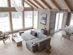 Uno chalet per i design addicted - Interior Break Log Cabin Living, Home And Living, Modern Living, Chalet Design, House Design, Interior Architecture, Interior Design, Living Spaces, Living Room