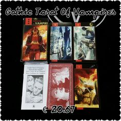 Lo Scarabeo Gothic Tarot Of The Vampires interested in a deck contact me Worldesotericshop@outlook.com +39 366 243 6553 https://www.facebook.com/groups/336041476753003/