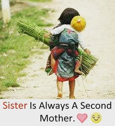 Yes my sister is my second mother. Tag-mention-share with your Brother and Sister 💙💚💛🧡💜👍 My Sweet Sister, Brother And Sister Love, Your Brother, Raksha Bandhan Messages, Raksha Bandhan Quotes, Brother And Sister Relationship, Brother Sister Quotes, Sibling Quotes, Sis Loves