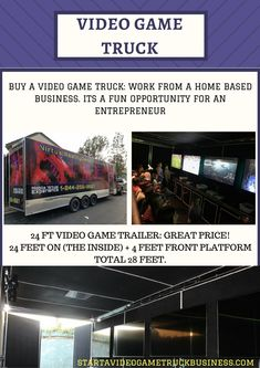 Start your own Game truck business and enjoy the convenience of working for yourself and having a fulfilling job. The great things about owning your own virtual reality game truck: You will be a boss. You can operate the business on the weekends only while working a regular job and then transition to full time operator There is constantly a need for games at social gatherings especially birthday parties You have a billboard on your business marketing the mobile game theater anywhere you go…