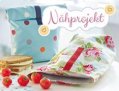 """Lunchbag mit Icon """"Nähprojekt"""""""