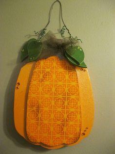 Wood Cutout Pumpkin