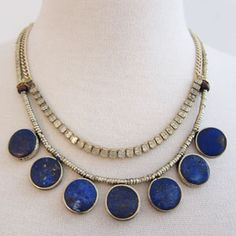 #NMFallTrends: Navy: The New Neutral;  Cerulean Sparkle Necklace from Kelly Framle Jewlery