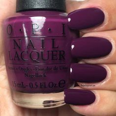 Kerry Blossom (Special edition shade) from the Fall/Winter 2016 Washington D. … Kerry Blossom (Special edition shade) from the Fall/Winter 2016 Washington D. Collection by OPI Fall Manicure, Manicure Colors, Fall Nail Colors, Nail Polish Colors, Winter Colors, Purple Nail Polish, Nagellack Design, Nagellack Trends, Stylish Nails
