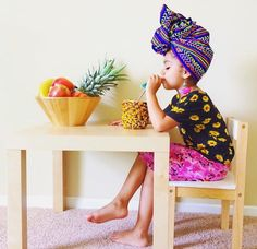 our focus as a tribe/family is to live in the purity of our fruit, to leave  smoothie idea: 1 banana 1 apple cup almond milk in a    Turbans, African Fashion, Kids Fashion, African Outfits, African Head Scarf, African Children, Wild Style, Beautiful Babies, Kids Wear