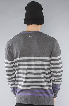 Orisue Carver Sweater in Charcoal Heather $76.00 Back View