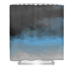 Gray Blue Shower Curtain,Abstract Bath Curtains,Minimal Art,Minimalist,Artsy,Squares,Boxes,Grey,Bathroom Decor,Contemporary,Modern,Designer by HeatherJoyceMorrill on Etsy