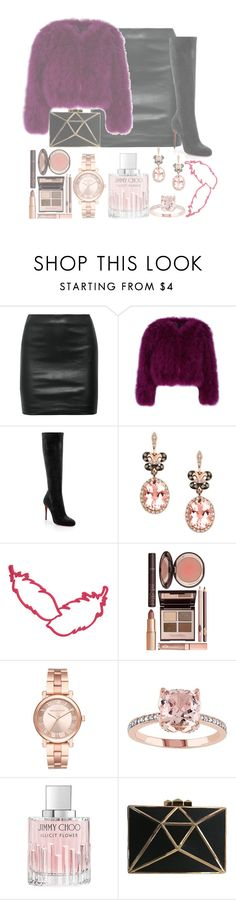"""""""Feather Love"""" by forever-lover1 ❤ liked on Polyvore featuring The Row, Christian Louboutin, Effy Jewelry, Charlotte Tilbury, Michael Kors and Jimmy Choo"""
