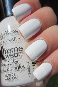 Recycled: Sally Hansen White On - not very opaque,  goes on streaky