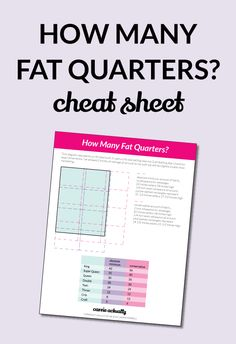 What is the minimum number of fat quarters you need for a quilt top?  Have you ever bought a fat quarter bundle without a quilt pattern in mind for it ahead of time?  Raise your hand then click through for an easy chart that tells you how many fat quarters you need at a minimum for each standard quilt size.