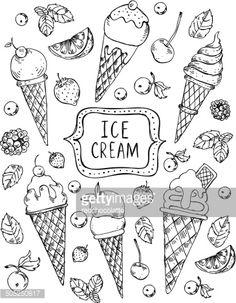 Vector Vintage Hand Drawn Sketch Ice Cream Vector Art | Getty Images