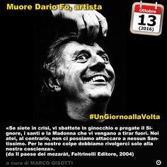 13 ottobre 2016: muore Dario Fo attore drammaturgo e scrittore