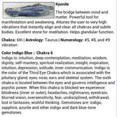 Kyanite gemstone crystal healing metaphysical health uses