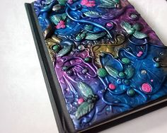 Polymer clay journal / colourful diary / by ItsDesignsByJo on Etsy
