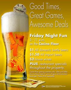 View the list of current promotions we have available at Dover Downs Hotel & Casino in Delaware. Restaurant Specials, Vegas Style, Lucky Day, Tgif, Good Times, Wines, Promotion, At Least