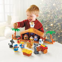 Fisher-Price Little People A Christmas Story. Best Gifts for 2 Year Old Boys. Kids educational toys, Christmas gifts for kids, this is what our 2 year old loves! Fisher Price, Toys For Boys, Gifts For Boys, Kids Toys, Christmas Nativity Scene, A Christmas Story, Christmas Windows, Christmas Ideas, Christmas Gifts